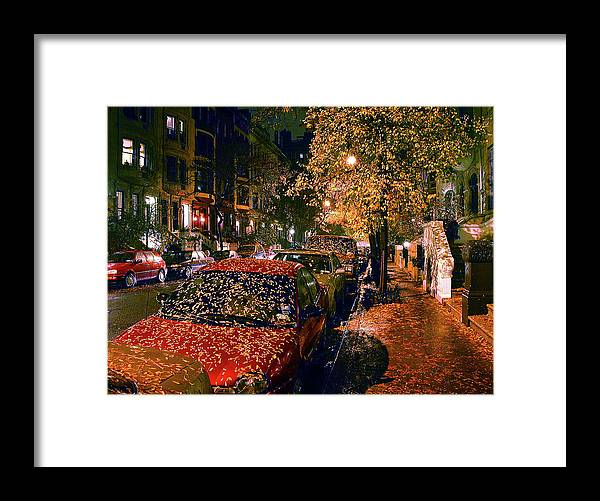 Autumn In Nyc Framed Print featuring the photograph Autumn in New York City by John Banegas