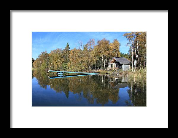Water Framed Print featuring the photograph Autumn Lake by Ulrich Kunst And Bettina Scheidulin