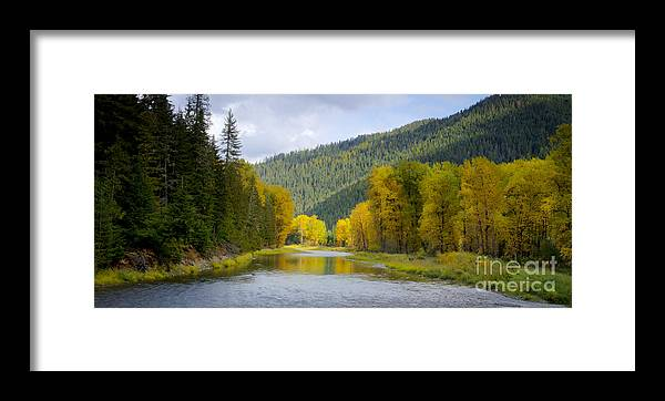 Idaho Framed Print featuring the photograph Autumn On The River by Idaho Scenic Images Linda Lantzy