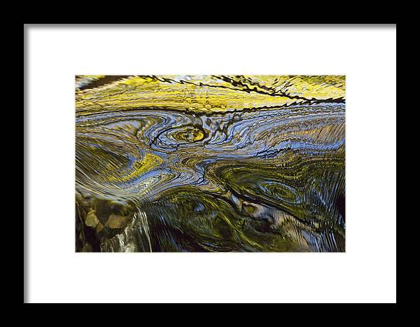 Hhh Framed Print featuring the photograph Autumn Patterns In Small Waterfall by Colin Monteath