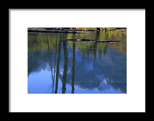 Autumn Colors And Reflections Framed Print featuring the photograph Autumn Pond by John Farley