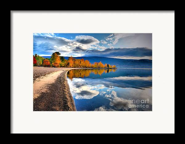 Autumn Framed Print featuring the photograph Autumn Reflections In October by Tara Turner