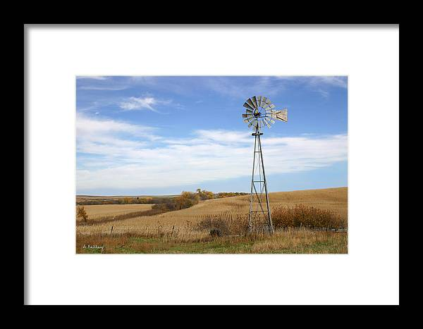 Windmill Photo Framed Print featuring the photograph Autumn Windmill by Andrea Kelley