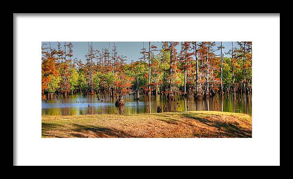 Waterscape Photograph Framed Print featuring the photograph Autumn's Beauty And Reflection by Ester Rogers