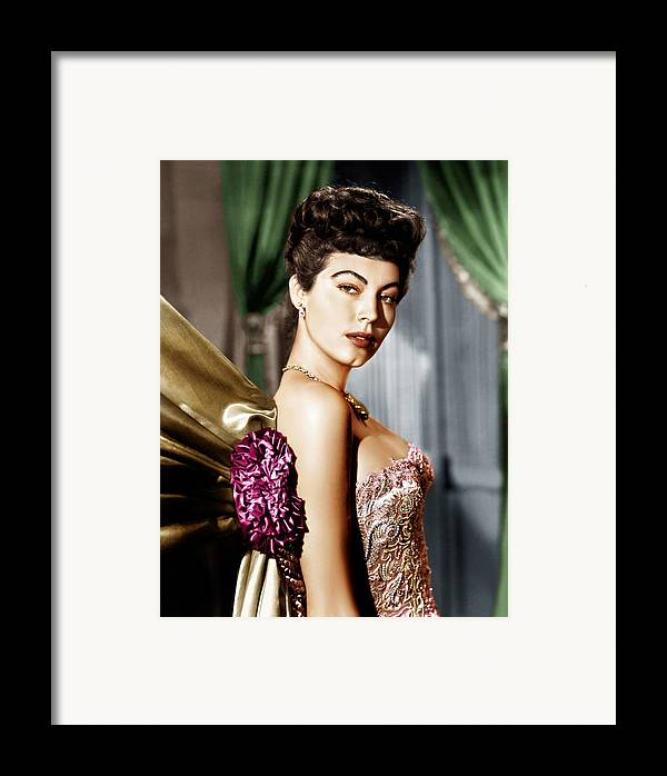 1940s Portraits Framed Print featuring the photograph Ava Gardner, Ca. Late 1940s by Everett
