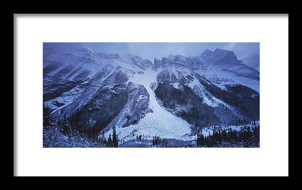 Environment Framed Print featuring the photograph Avalanche by Jeremy Walker