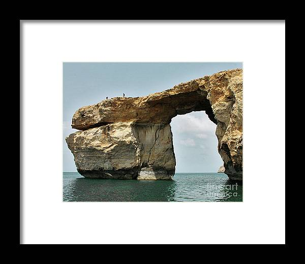Stone Framed Print featuring the photograph Azure Window by Denise Wilkins