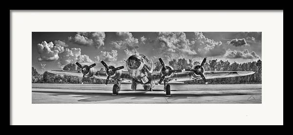 Planes Framed Print featuring the photograph B-17 by Williams-Cairns Photography LLC