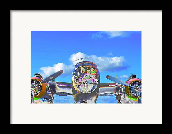 North American B-25j Mitchell Framed Print featuring the photograph B-25j Jazzed by Lynda Dawson-Youngclaus