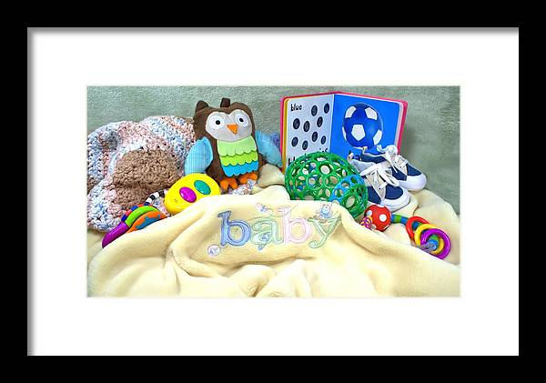 Shoes Framed Print featuring the photograph Baby Stuff by Lynnette Johns