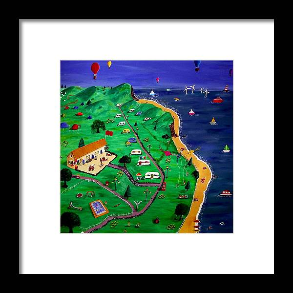 Seaside Framed Print featuring the painting Back At The Seaside by Sandy Wager