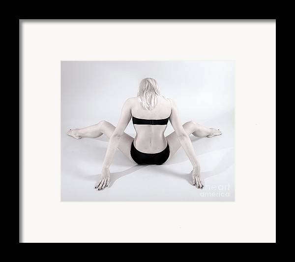 Woman Framed Print featuring the photograph Backside by Pierre-jean Grouille