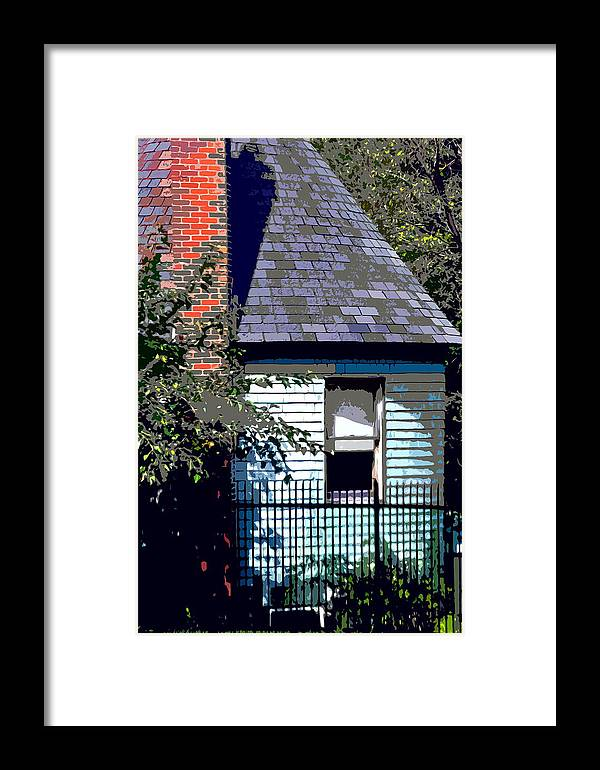 Fence Framed Print featuring the photograph Backyard by Burney Lieberman