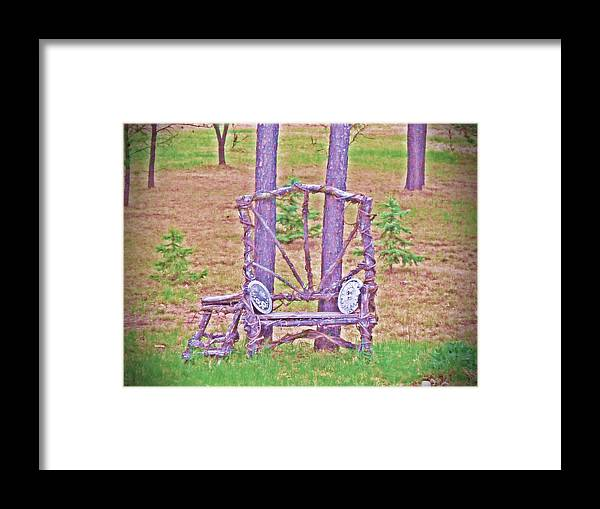 Bench Framed Print featuring the photograph Backyard Throne by Dave Dresser