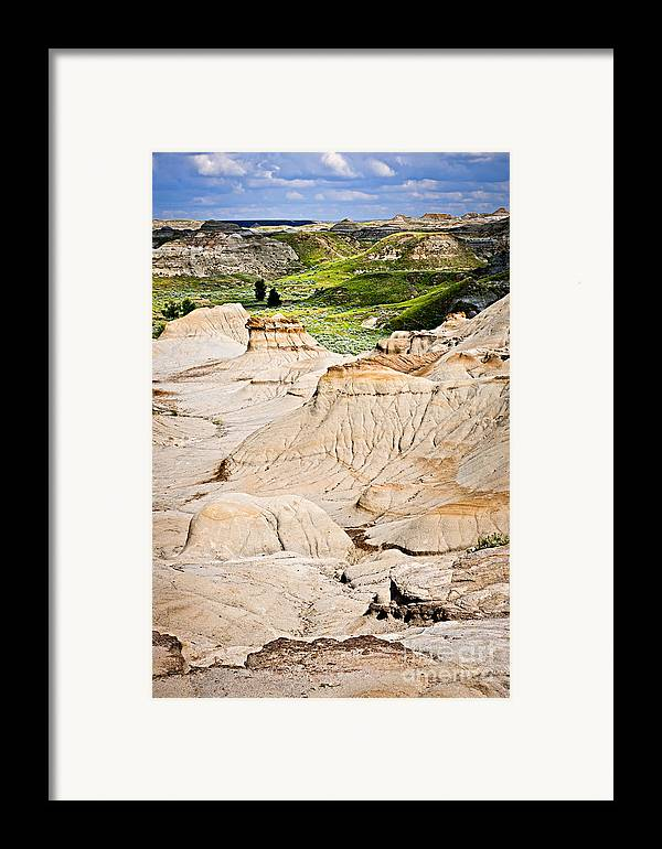 Badlands Framed Print featuring the photograph Badlands In Alberta by Elena Elisseeva