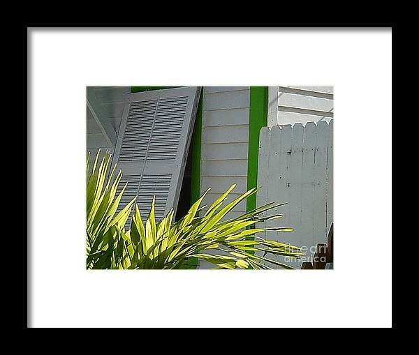 Key West Framed Print featuring the photograph Bahama Conch House by Jan Prewett