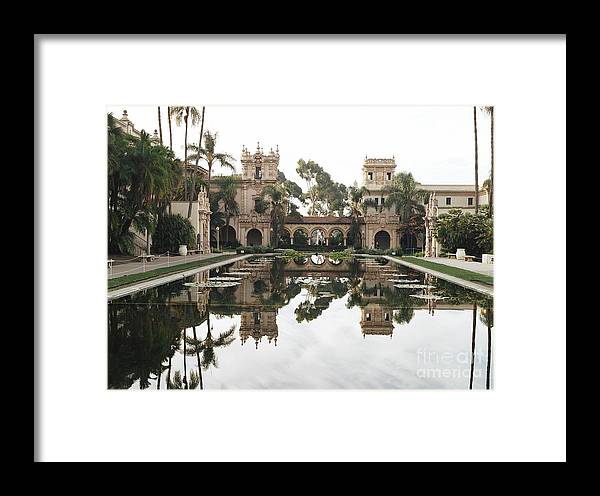 Reflection Of The Koi Pond In Balboa Park San Diego Framed Print featuring the photograph Balboa Park by Dean Robinson