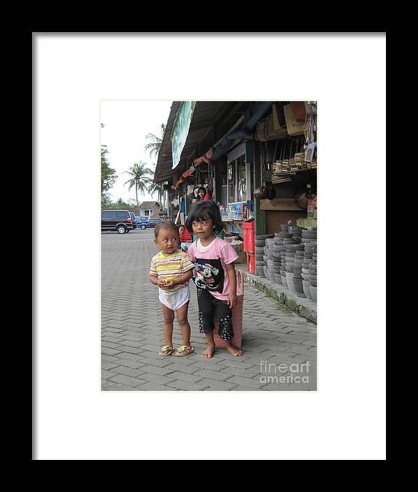 Framed Print featuring the photograph Bali Street by Yury Bashkin