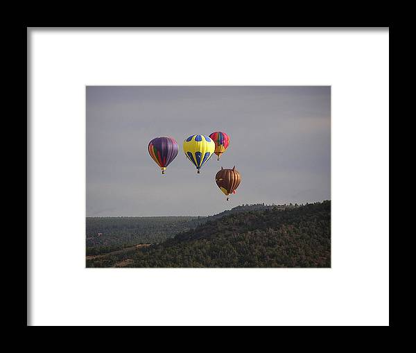 Balloons Framed Print featuring the photograph Balloon Cluster by FeVa Fotos