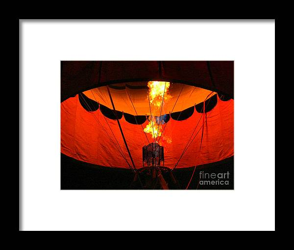 Balloon Glow Framed Print featuring the photograph Balloon Glow by Laurisa Rabins
