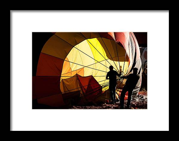 Hot Air Balloon Framed Print featuring the photograph Balloon Recovery by Greg Meland