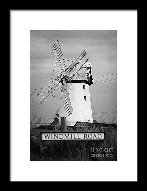 County Down Framed Print featuring the photograph Ballycopeland Windmill County Down Ireland by Joe Fox