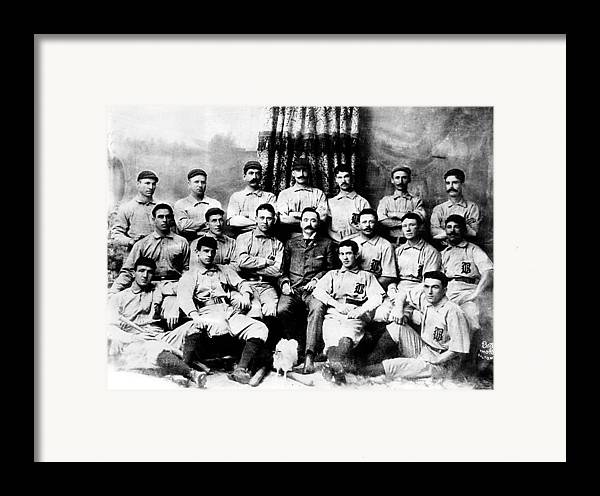1880s Portaits Framed Print featuring the photograph Baltimore Orioles, Champion Baseball by Everett