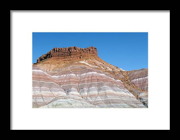 Canyon Framed Print featuring the photograph Banded Sandstone Rock by Jeremy Walker