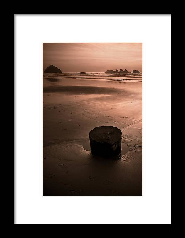 Sunset Framed Print featuring the photograph Bandon Sunset. by Kim Price