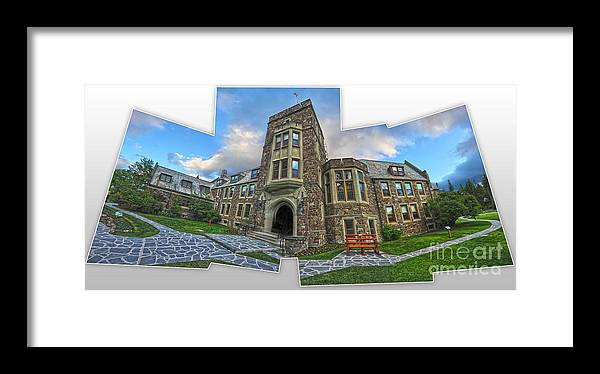 Banff Framed Print featuring the painting Banff - Canada Place And Cascade Gallery by Gregory Dyer