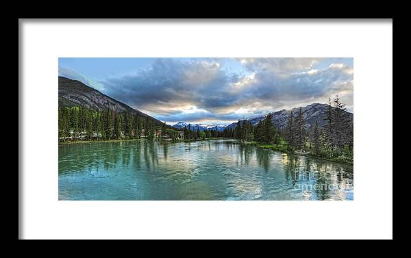 Banff Framed Print featuring the painting Banff And The Bow River - 01 by Gregory Dyer