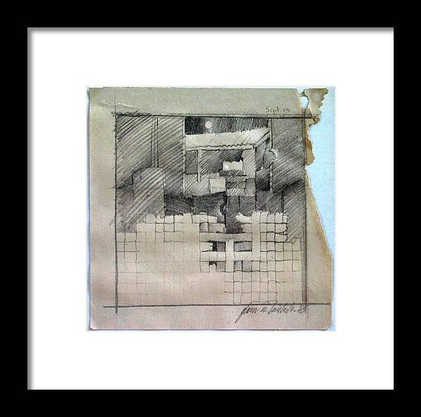 Banig Framed Print featuring the drawing Banigcomp 1969 by Glenn Bautista