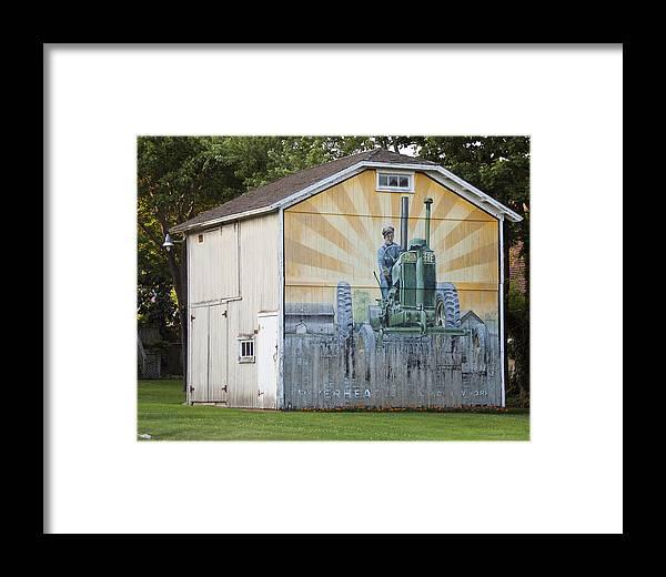Framed Print featuring the photograph Barn Art by Cathy Kovarik