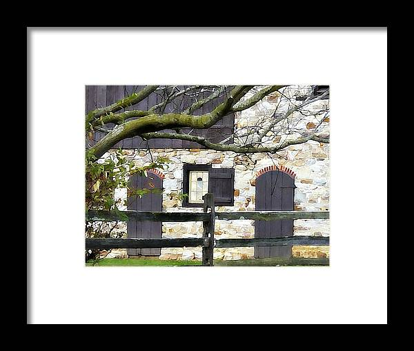 Barn Framed Print featuring the photograph Barn by Brenda Conrad