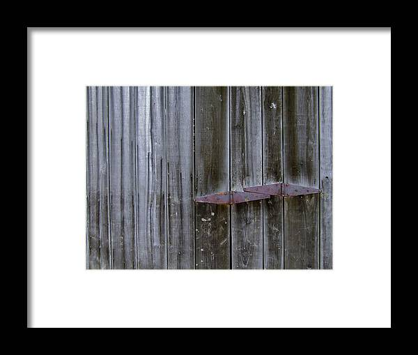 Facades Framed Print featuring the photograph Barn Hinge by Richard Gregurich