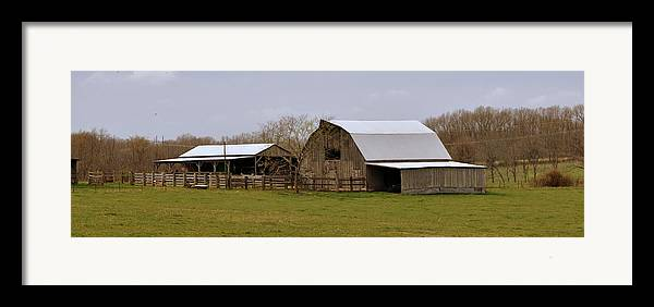 Barn Framed Print featuring the photograph Barn In The Ozarks by Marty Koch