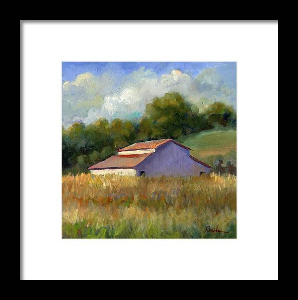 Lakeville Framed Print featuring the painting Barn On Lakeville Highway by Sally Rosenbaum