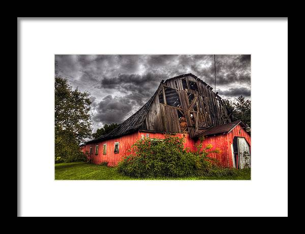 Barn Framed Print featuring the photograph Barn Storming by Brian Fisher