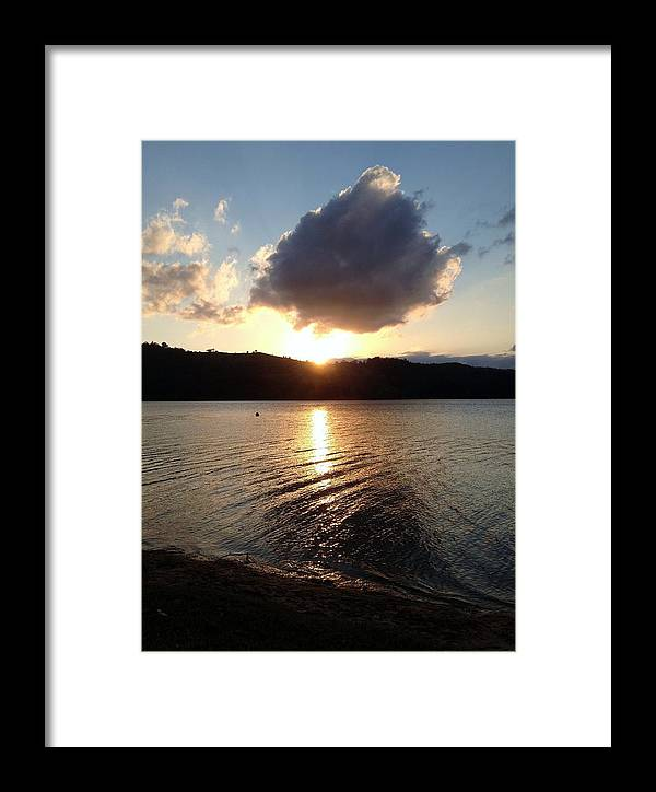 Water Framed Print featuring the photograph Baroon Sunset by Nicola La Vie