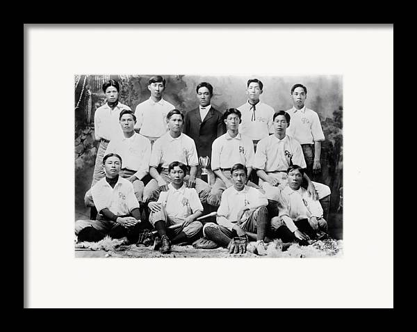 1910s Framed Print featuring the photograph Baseball. Chinese-american Baseball by Everett