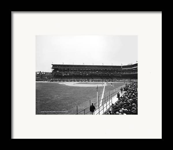 1912 Framed Print featuring the photograph Baseball Game, C1912 by Granger