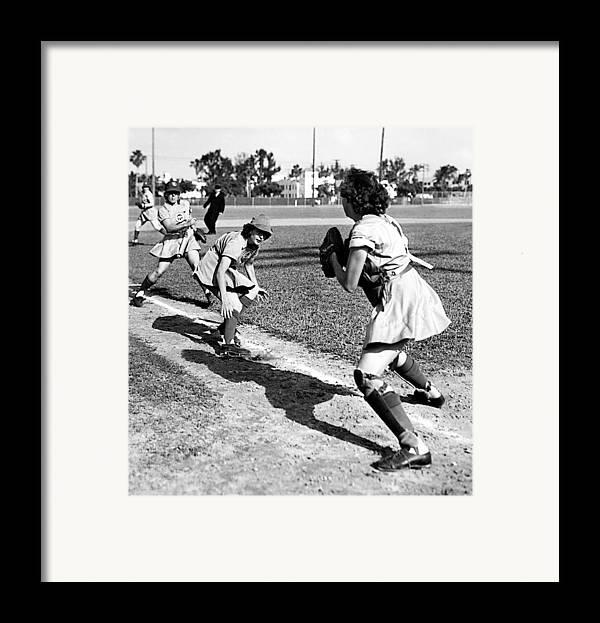 1940s Portraits Framed Print featuring the photograph Baseball, Kenosha Comets Play by Everett