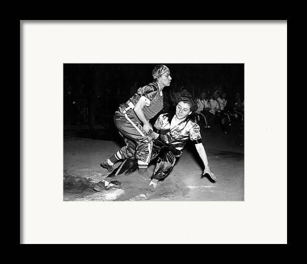 1940s Portraits Framed Print featuring the photograph Baseball, Mary Farmer Of The Chicago by Everett