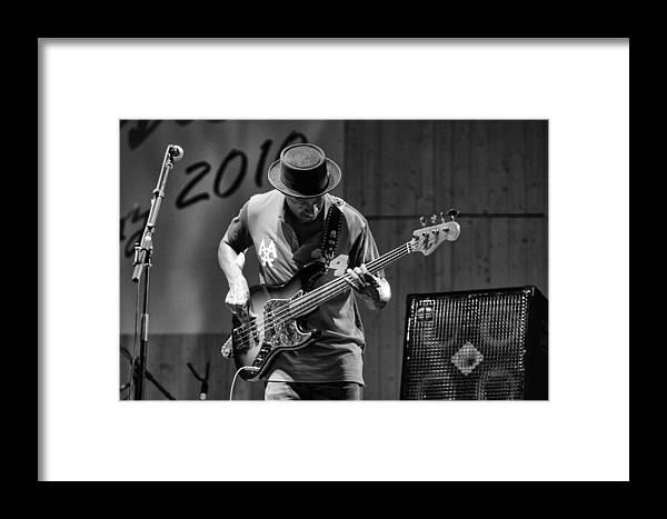 Jazz Framed Print featuring the photograph Bass Jazz by Vincenzo De stefano