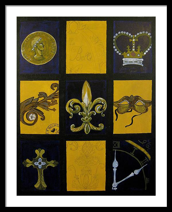 French Framed Print featuring the painting Baton Rouge by Angela Jensen
