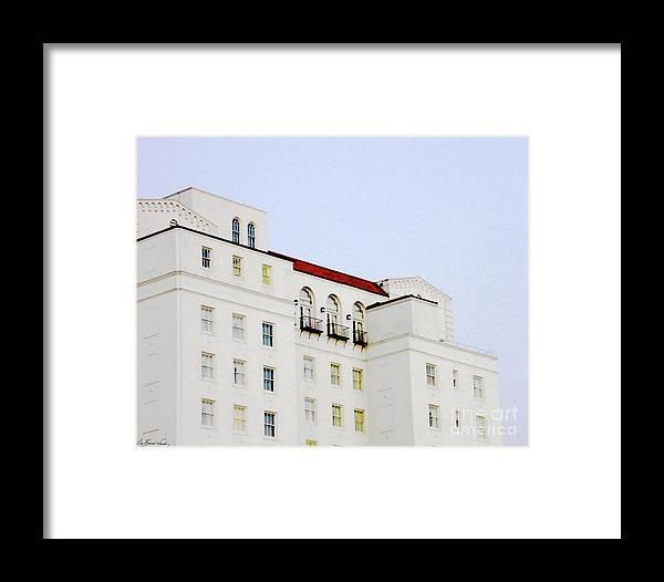 Hilton Hotel Framed Print featuring the digital art Baton Rouge Hilton by Lizi Beard-Ward
