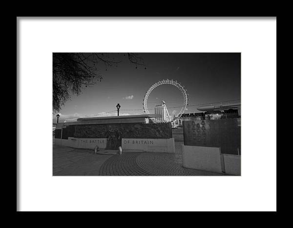 Battle Britain Framed Print featuring the photograph Battle Of Britain War Memorial by David French