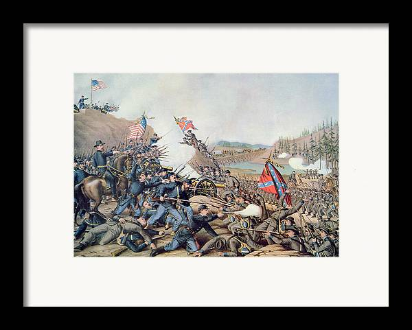 Battle Of Franklin Framed Print featuring the painting Battle Of Franklin November 30th 1864 by American School