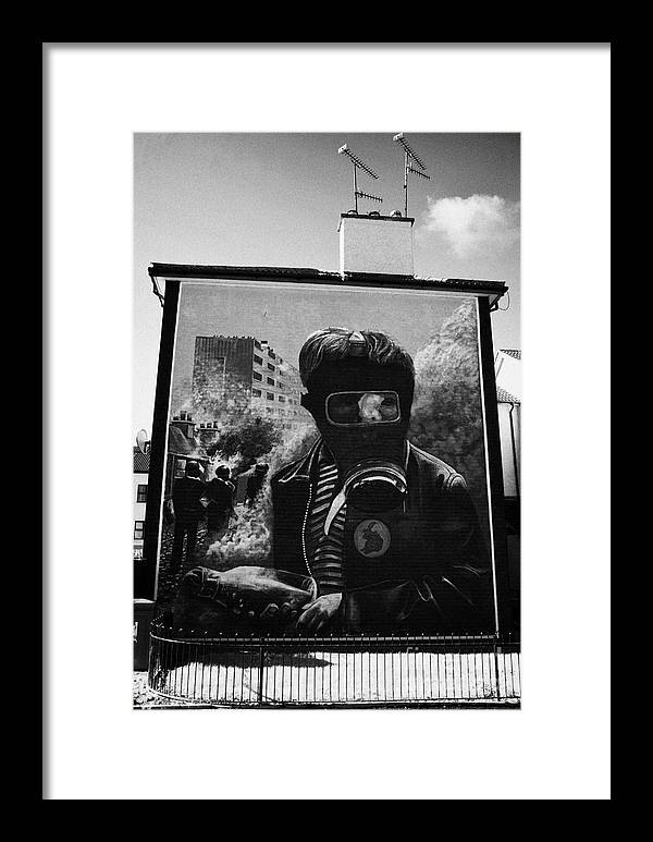 Murals Framed Print featuring the photograph Battle Of The Bogside Mural Derry by Joe Fox