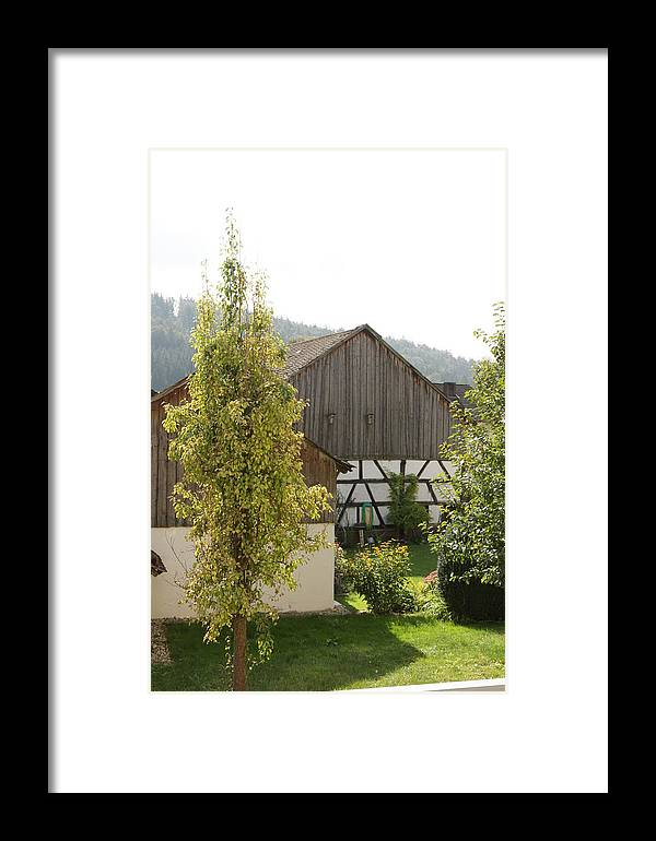 Bavaria Framed Print featuring the photograph Bavarian Barn by Christopher Woytowiez